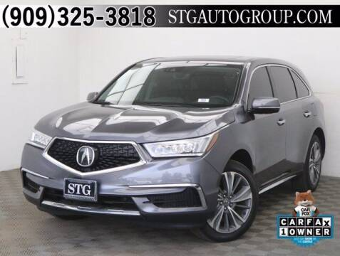 2017 Acura MDX for sale at STG Auto Group in Montclair CA