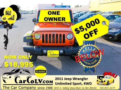 2011 Jeep Wrangler Unlimited for sale at The Car Company in Las Vegas NV