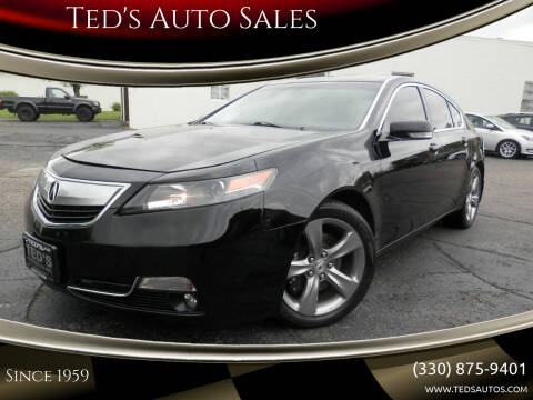 2012 Acura TL for sale at Ted's Auto Sales in Louisville OH