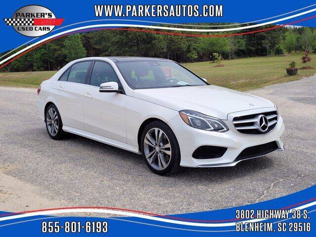 2016 Mercedes-Benz E-Class for sale at Parker's Used Cars in Blenheim SC