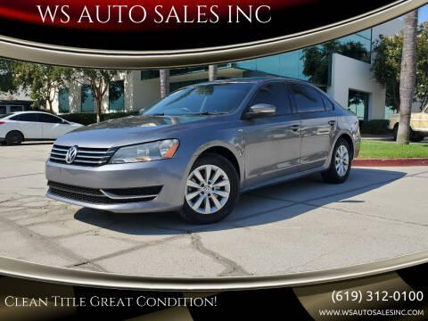 2014 Volkswagen Passat for sale at WS AUTO SALES INC in El Cajon CA