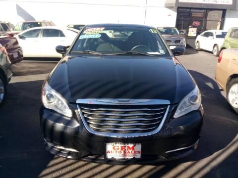 2013 Chrysler 200 for sale at Gem Auto Sales in Irvington NJ