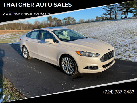 2013 Ford Fusion for sale at THATCHER AUTO SALES in Export PA
