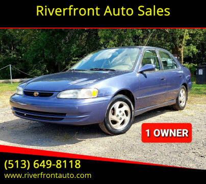 2000 Toyota Corolla for sale at Riverfront Auto Sales in Middletown OH