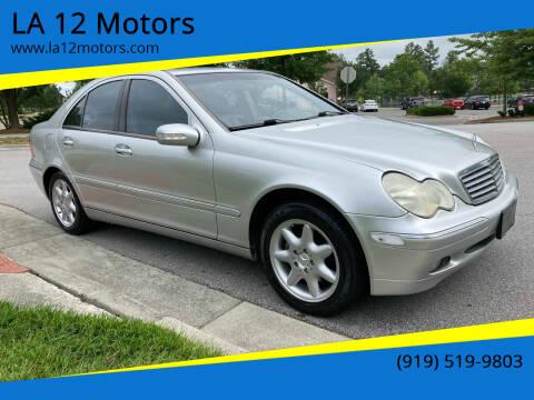 2003 Mercedes-Benz C-Class for sale at LA 12 Motors in Durham NC