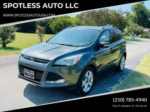 2016 Ford Escape for sale at SPOTLESS AUTO LLC in San Antonio TX