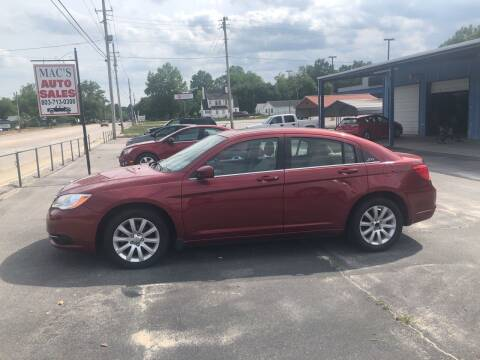 2011 Chrysler 200 for sale at Mac's Auto Sales in Camden SC