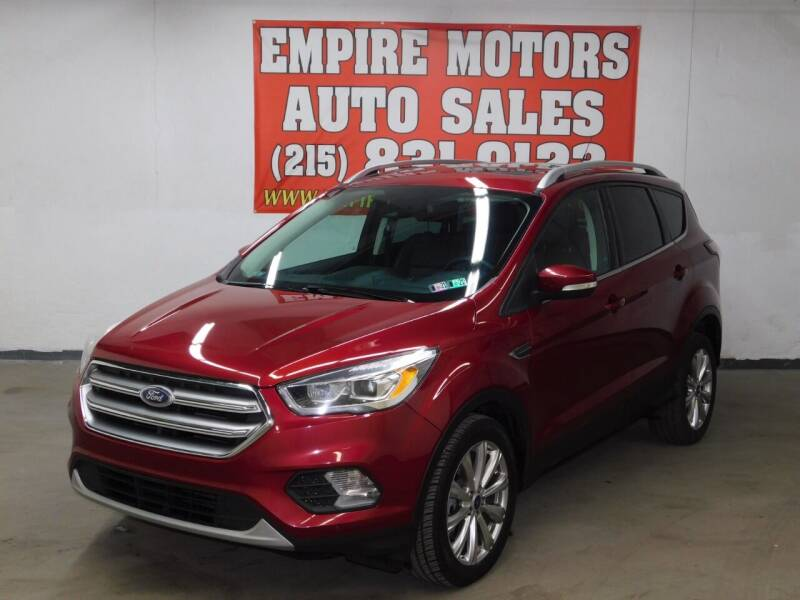 2017 Ford Escape for sale at EMPIRE MOTORS AUTO SALES in Philadelphia PA