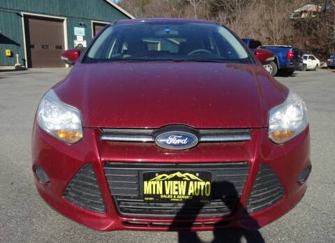 2014 Ford Focus for sale at MOUNTAIN VIEW AUTO in Lyndonville VT
