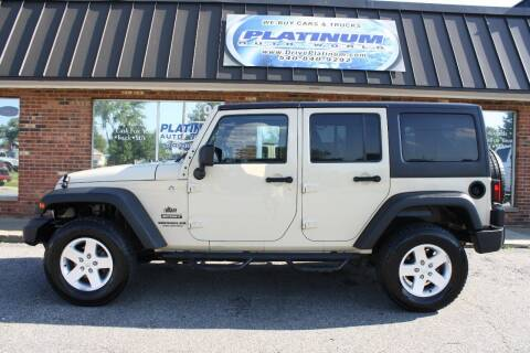 2012 Jeep Wrangler Unlimited for sale at Platinum Auto World in Fredericksburg VA