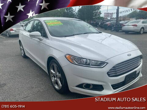 2016 Ford Fusion for sale at Stadium Auto Sales in Everett MA