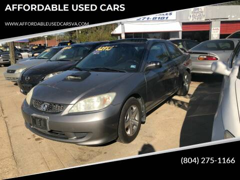 2004 Honda Civic for sale at AFFORDABLE USED CARS in Richmond VA