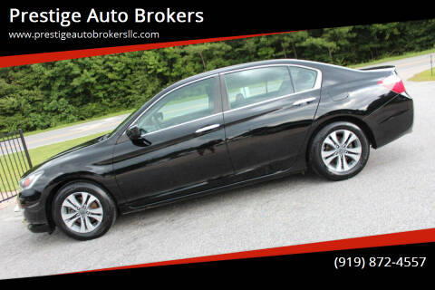 2013 Honda Accord for sale at Prestige Auto Brokers in Raleigh NC