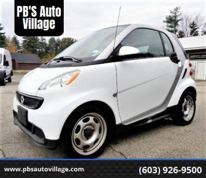 2013 Smart fortwo for sale at PB'S Auto Village in Hampton Falls NH