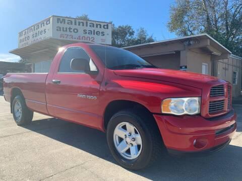 2003 Dodge Ram Pickup 1500 for sale at Mainland Auto Sales Inc in Daytona Beach FL