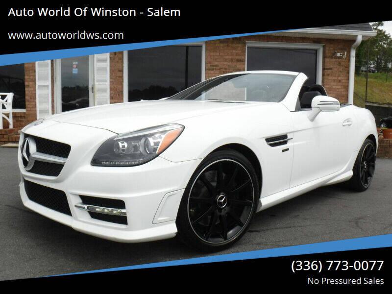 2014 Mercedes-Benz SLK for sale at Auto World Of Winston - Salem in Winston Salem NC