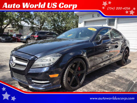 2013 Mercedes-Benz CLS for sale at Auto World US Corp in Plantation FL