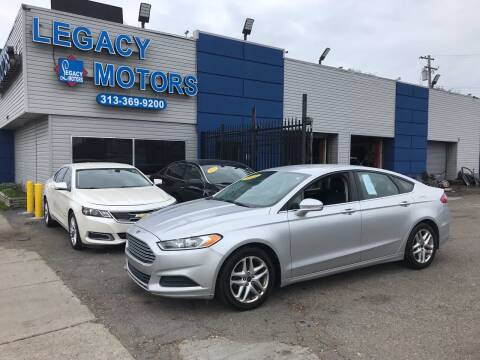 2013 Ford Fusion for sale at Legacy Motors in Detroit MI