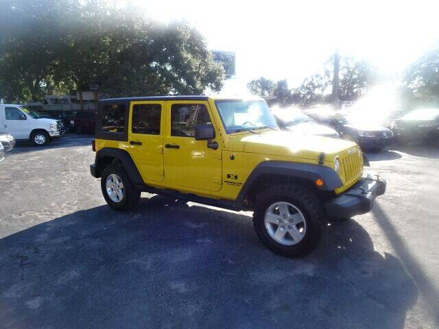 2009 Jeep Wrangler Unlimited for sale at DONNY MILLS AUTO SALES in Largo FL