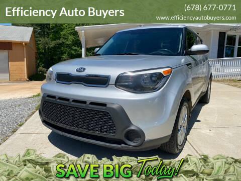 2016 Kia Soul for sale at Efficiency Auto Buyers in Milton GA