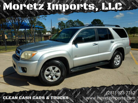 2007 Toyota 4Runner for sale at Moretz Imports, LLC in Spring TX