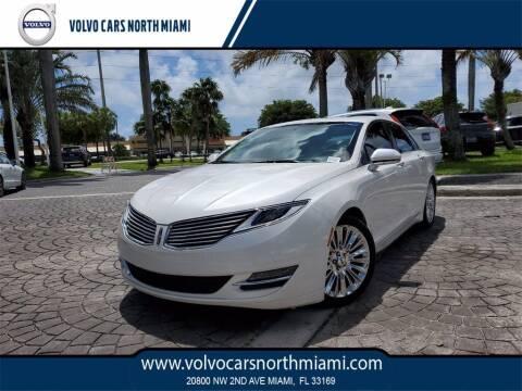 2015 Lincoln MKZ for sale at Volvo Cars North Miami in Miami FL
