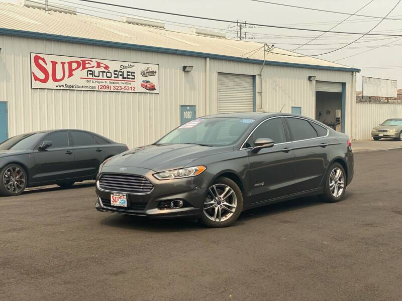 2016 Ford Fusion Hybrid for sale at SUPER AUTO SALES STOCKTON in Stockton CA