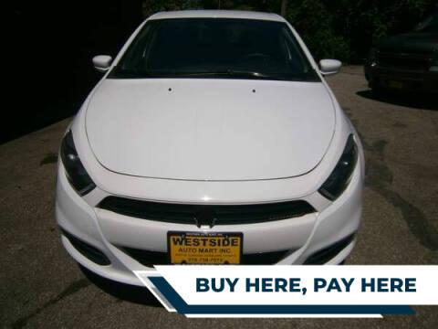 2015 Dodge Dart for sale at WESTSIDE AUTOMART INC in Cleveland OH