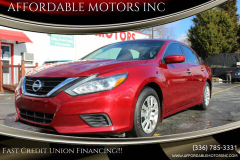 2018 Nissan Altima for sale at AFFORDABLE MOTORS INC in Winston Salem NC