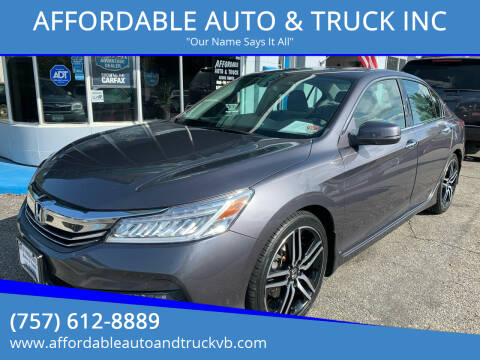 2017 Honda Accord for sale at AFFORDABLE AUTO & TRUCK INC in Virginia Beach VA