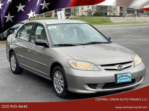 2004 Honda Civic for sale at Central Union Auto Finance LLC in Austin TX