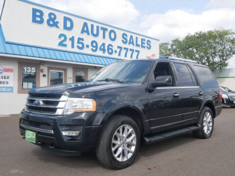 2017 Ford Expedition for sale at B & D Auto Sales Inc. in Fairless Hills PA