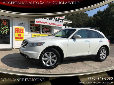 2004 Infiniti FX35 for sale at Acceptance Auto Sales Douglasville in Douglasville GA