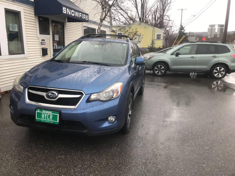 2014 Subaru XV Crosstrek for sale at Snowfire Auto in Waterbury VT