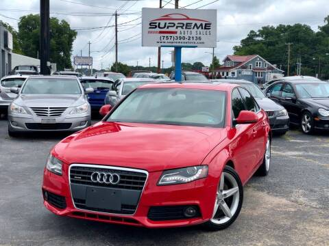 2009 Audi A4 for sale at Supreme Auto Sales in Chesapeake VA