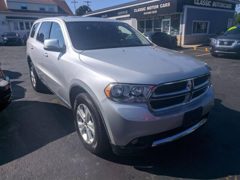 2011 Dodge Durango for sale at CLASSIC MOTOR CARS in West Allis WI