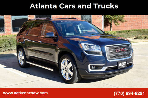 2017 GMC Acadia Limited for sale at Atlanta Cars and Trucks in Kennesaw GA