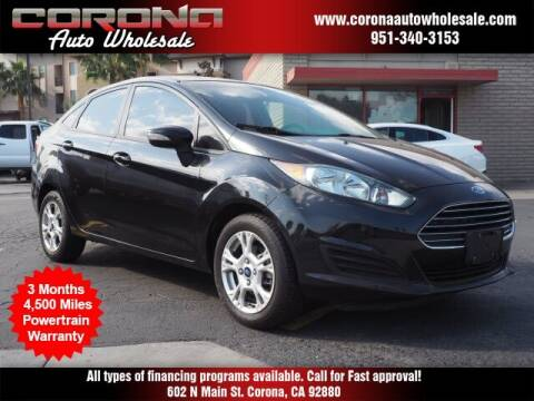 2014 Ford Fiesta for sale at Corona Auto Wholesale in Corona CA