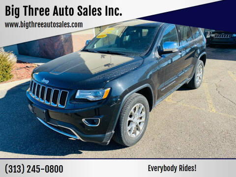 2013 Jeep Grand Cherokee for sale at Big Three Auto Sales Inc. in Detroit MI