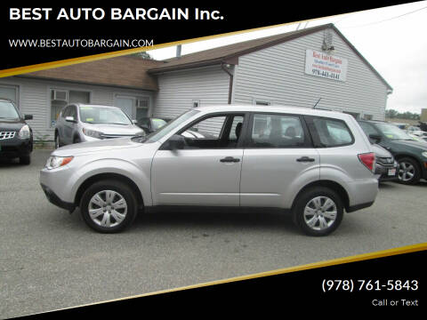 2010 Subaru Forester for sale at BEST AUTO BARGAIN inc. in Lowell MA