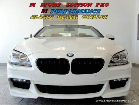 2015 BMW 6 Series for sale at SAN DIEGO BEEMERS in San Diego CA