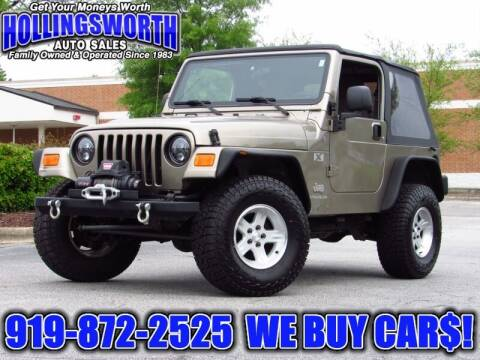 2004 Jeep Wrangler for sale at Hollingsworth Auto Sales in Raleigh NC