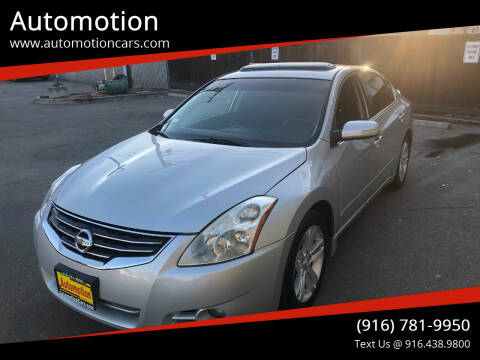 2012 Nissan Altima for sale at Automotion in Roseville CA