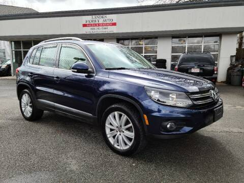 2013 Volkswagen Tiguan for sale at Landes Family Auto Sales in Attleboro MA