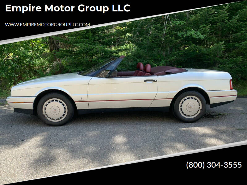 1991 Cadillac Allante for sale at Empire Motor Group LLC in Plaistow NH
