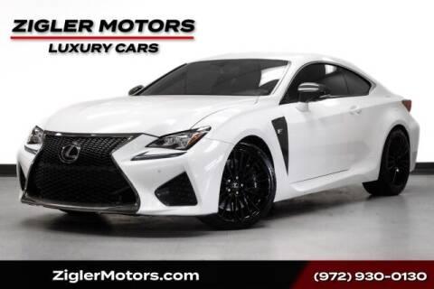 2015 Lexus RC F for sale at Zigler Motors in Addison TX