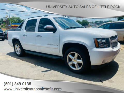 2008 Chevrolet Avalanche for sale at University Auto Sales of Little Rock in Little Rock AR