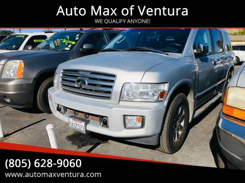 2005 Infiniti QX56 for sale at Auto Max of Ventura in Ventura CA