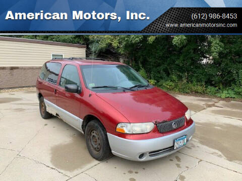2001 Mercury Villager for sale at American Motors, Inc. in Farmington MN