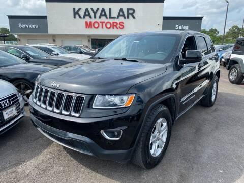 2015 Jeep Grand Cherokee for sale at KAYALAR MOTORS in Houston TX